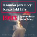 Palona kukła Lecha Wałęsy